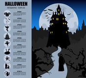 Halloween infographic template Stock Images