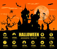Halloween infographic template Royalty Free Stock Photography