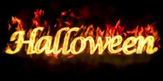 Halloween-inschrijving, het 3D teruggeven Royalty-vrije Stock Fotografie