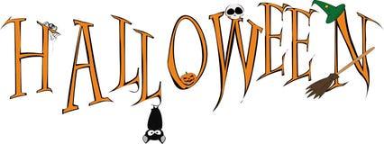 Halloween inscription Royalty Free Stock Image