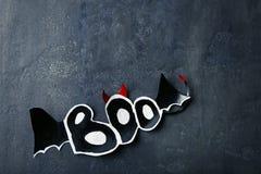 Halloween inscription Boo Royalty Free Stock Photography