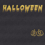 Halloween inscription stitched on textile fabric Stock Photography