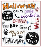 Halloween inscriptions Stock Photography
