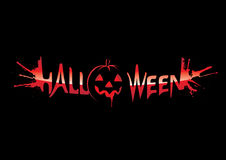 halloween inskrift vektor illustrationer