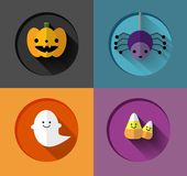 Halloween Inspired flat iIllustrations Stock Photo