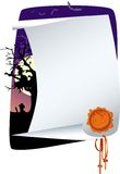 Halloween invitation. List is prepared for your text vector illustration