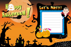 Halloween invitation Stock Photography