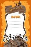 Halloween Invitation Background Stock Photo