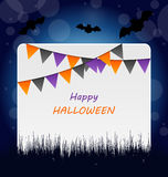 Halloween Invitation with Bunting Pennants Royalty Free Stock Photos