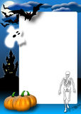 Halloween invitation card Stock Images
