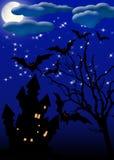 Halloween invitation card Stock Image