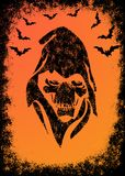 Halloween invitation card Stock Photography