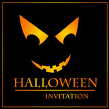 Halloween invitation card Royalty Free Stock Image