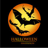 Halloween invitation card Royalty Free Stock Photo