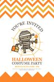 Halloween invitation card for costume night party cute kid  Stock Images