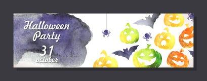 Halloween invitation card Stock Photography