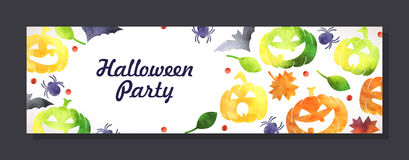 Halloween invitation card Stock Images