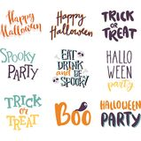 Halloween invitation cards vector. Stock Images