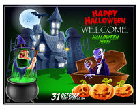 Halloween invitation flyer. Royalty Free Stock Photo