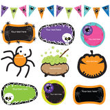 Halloween Invitation Frames Royalty Free Stock Images