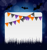 Halloween invitation with hanging flags Stock Photography