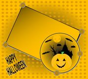 Halloween invitation for party greetings card Royalty Free Stock Images