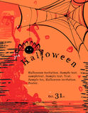 Halloween invitation poster Royalty Free Stock Photography