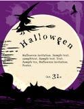 Halloween invitation poster. Vector illustration - halloween invitation poster Stock Photos