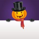 Halloween invitation with pumpkin Stock Image