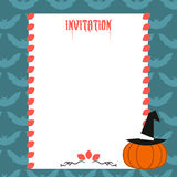 Halloween invitation Stock Image