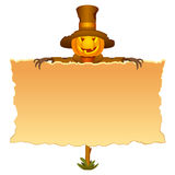 Halloween invitation with scarecrow Royalty Free Stock Images