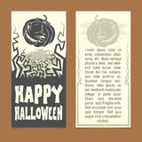 Halloween invitation. Template. Front and back sides Stock Image