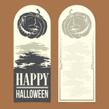 Halloween invitation. Template. Front and back sides Stock Photo