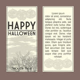 Halloween invitation. Template. Front and back sides Royalty Free Stock Photography