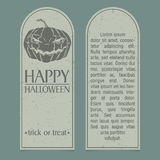 Halloween invitation. Template. Front and back sides Stock Photos