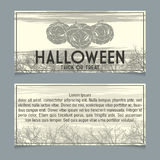 Halloween invitation. Template. Front and back sides Royalty Free Stock Photo