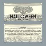 Halloween invitation Royalty Free Stock Photo