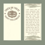 Halloween invitation. Template. Front and back sides Royalty Free Stock Photos