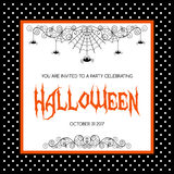 Halloween invitation template Royalty Free Stock Photography