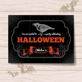 Halloween invitation. Vintage hand drawn Stock Image