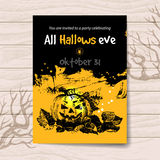 Halloween invitation. Vintage hand drawn Royalty Free Stock Photography