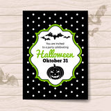 Halloween invitation Stock Images