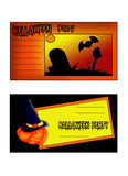 Halloween invitations. Color illustration of tickets for halloween party Royalty Free Stock Photo