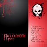 Halloween invite with skull and text Stock Images