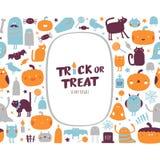 Halloween-inzameling Vector Illustratie