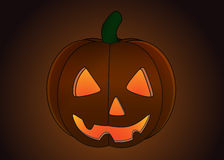 halloween isolerade pumpa Royaltyfria Bilder