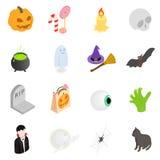 Halloween isometric 3d icons Stock Photography