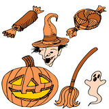 Halloween Item Set Royalty Free Stock Image