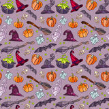 Halloween items pattern. Stock Photography