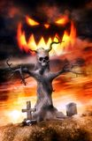 Halloween Jack and graves. 3D render illustration Royalty Free Stock Image